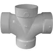 "4"" PVC-DWV Double Sanitary Tee (All Hub)"