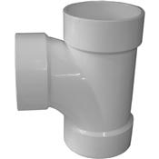 """4"""" PVC-DWV Sanitary Tee (HubxHubxHub)"""