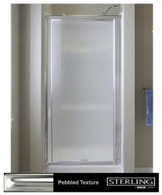Shop 31 36 Shower Door With Pebbled Glass Silver At Mccoys