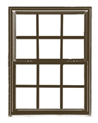 2844 300 Insulated Low-E Glass 6/6 Bronze Single Hung Window