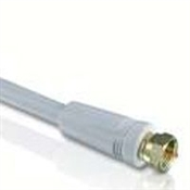 25' Coaxial Cable with Ends Quad Shield White