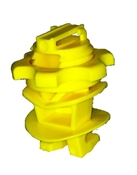 Screw On Rod Post Insulator Yellow - 25 Pack