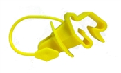 Wrap Around T-Post Pinlock Insulator Yellow - 25 Pack