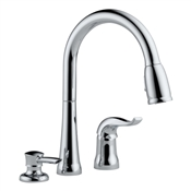 Kate Pull down Kitchen Faucet With Soap Dispenser, Chrome