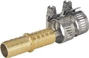 "5/8""-3/4"" Brass Mender with Clamps"
