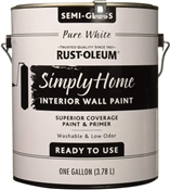 Simply Home Pure White Semi-Gloss Interior Wall Paint