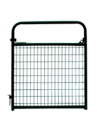 4' Tuf-Mac Wire Filled Tube Gate - Green