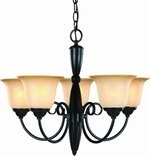 Essex 5 Light Chandelier, Classic Bronze
