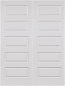 4068 Double 5 Panel  Riverside Smooth Satin Nickel Hinges