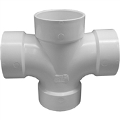 "3"" PVC-DWV Double Sanitary Tee (All Hub)"