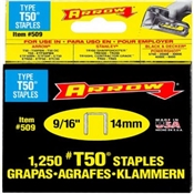 "9/16"" Loktile Heavy Duty Narrow Crown Staples"