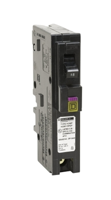 15 Amp Single-Pole Plug-On Neutral Dual Function (CAFCI and GFCI) Circuit Breaker