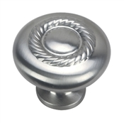 "1-1/4"" Rope Design Cabinet Knob - Satin Nickel"