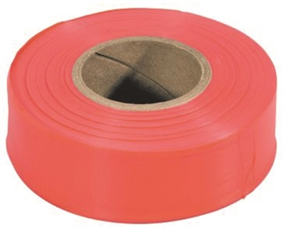 Flagging Tape Non-Adhesive Orange 1 3//16in X 150ft