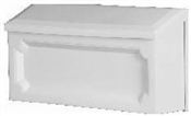 Windsor, White Horizontal House Wall Mount Mailbox