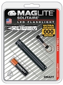 "Maglite Solitaire, Black, ""AAA"" Cell LED Flashlight, 47 Lumens"