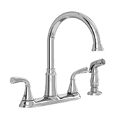 2 Handle High-Arc Kitchen Faucet With Side Sprayer