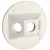 "3-1/2"" Round Outlet Lamp Cover - White"