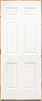 Shop 3068 6 Panel Steel Prehung Door Left Hand At Mccoy S