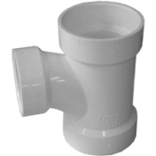 "2""x2""x1-1/2"" PVC-DWV Reducing Sanitary Tee (HxHxH)"