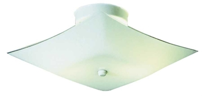 2 Light White Square Indoor Ceiling Fixture