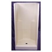 """36"""" x 36"""" x 73"""" Koral (2) Piece Shower Stall - White"""