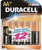 Duracell Alkaline Battery, 12/AA, Manganese Dioxide, 1.5 V