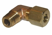 "1/4"" Compression x 1/8"" Male Pipe Thread Brass Elbow"