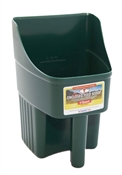 Green Enclosed Feed Scoop, 3 Quart