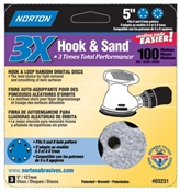 "Hook & Loop Random Orbital Discs 5"" 100 Med"