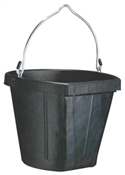 18 Qt Rubber Flatback Bucket, Black