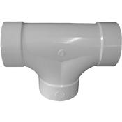 "4"" PVC S&D Two-Way Cleanout Tee(HubxHubxHub)"