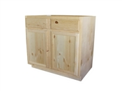 "30"" Unfinished Pine Base Cabinet"
