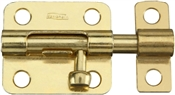 "3-1/2"" Barrel Bolt, Brass"