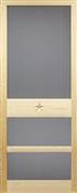 """Texas Star Solid Wood Screen Door, 2'8"""" x 6'8"""""""