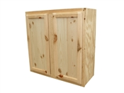 "30"" x 30"" Unfinished Pine Wall Cabinet"