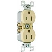 Ivory 15 Amp 25 Volt Tamper Resistant Receptacle 10 Pack