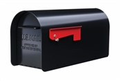 Large Black Post Mount Mailbox