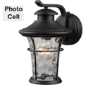 Photo Cell Exterior Lantern, Water Glass, Textured Finish