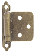 Self-Closing Flush/Overlay Cabinet Hinge - Antique Brass