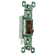 Brown 15 Amp 120 Volt Toggle Switch