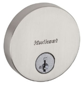 Round Single Cylinder Deadbolt, Satin Nickel