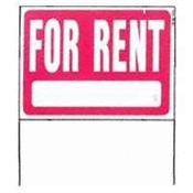 For Rent Yard Sign W/Frame