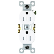 White 15 Amp 125 Volt Duplex Tamper Resistant Receptacle
