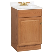 "Richmond 18"" Vanity in Oak Finish with Cultured Marble Top"