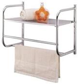 Bathroom Spacesaver Rack -- Silver
