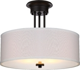 Lexington 2 Light Semi Flush Ceiling Fixture, Oil Rubbed Bronze