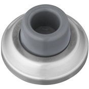 Heavy Duty Concave Wall Door Stop, Satin Chrome