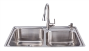 Stainless Steel Fast-In Sink/ Pull Down Faucet Combo with Soap Dispenser