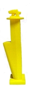 "Nail on Wood Post Slant Nail Insulator 5"" Yellow - 25 Pack"